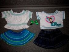 Build a Bear CLOTHES Peasant Shirt Skirt -Cody Simpson Shirt  Lot R5