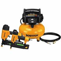 BOSTITCH AIR COMPRESSOR COMBO KIT 2-TOOL 18 GA BRAD NAILER 16 GA STRAIGHT FINISH