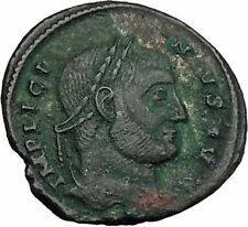 LICINIUS I Constantine I enemy 321AD  RARE Ancient Roman Coin Wreath I45682