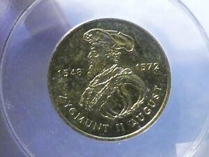 POLAND 2 Zlotych, 1996 MW, ZYGMUNT II AUGUST, ANACS MS 65, key date in series