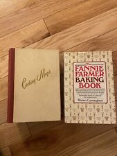 Vintage Cookbooks Lot Of 2 Cooking Magic Fannie Farmer First Edition