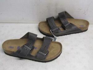 Birkenstock Unisex US W9/M7 Arizona Soft Bed Sandal Iron 0552801