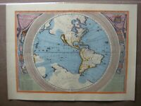 map of the world Vintage Poster Vincenzo  Maria Coronelli c. 1695 Inv#5055