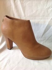 Next Brown Ankle Leather Boots Size 7