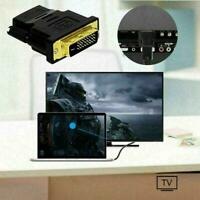 DVI-D Male (24+1 pin) to HDMI Female (19-pin) HDTV Hot Display Monitor S3Q8