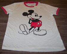 WOMEN'S TEEN VINTAGE STYLE Walt Disney MICKEY MOUSE T-shirt LARGE NEW w/ TAG
