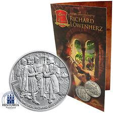 & decir leyendas Austria 10 euro 2009 handgehoben Ricardo Corazón de León en el Folder