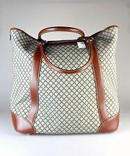 $1,595 NWT Gucci Diamante Large Canvas & Leather Travel Tote RARE Travel Bag