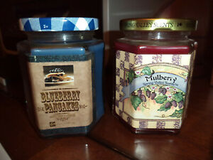 Home Interiors Candle Jar 7.5 oz *FREE SHIPPING* Mulberry Spring/Blueberry Panc
