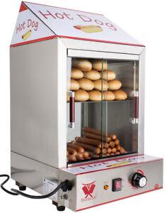 Beeketal Hot Dog Steamer Erhitzer Wurstkocher Würstchenwärmer Brötchenwärmer