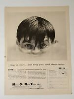 Vintage MONY Mutual Of New York Life Insurance Print Ad 1959 Life Magazine Ad