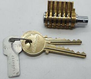 Cutaway 6 slot Medeco Entrance Cylinder Lock 2 keys - Locksport - Locksmith