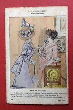 CPA. Illustrateur GUILLAUME. Nos Humoristes. Becs de Colombe. Mauvaises Langues.