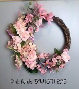 Floral Wicker Wreath Spring/summer