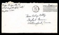 1944 WAR COVER -  FREE SOLDIER POSTAGE -  U.S. NAVY POSTMARK (ESP#L3296)