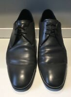 EMPORIO ARMANI Grey Leather Oxfords - Mens Size 12 UK / 13 US - Made in Italy