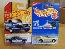 Hotwheels '65 Ford Mustang Coupe & '65 Mustang Convertible  ( Lot Of 2 )