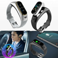 Smart Watch Bluetooth Wireless Earphone Blood Pressure Heart Rate Monitor NEW