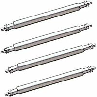 22mm 24mm 26mm 28mm 30mm x 4 watch spring pin bars stainless steel free p&p