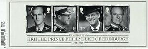 2021 GB HRH Duke Of Edinburgh Mini Sheet Barcoded version 24/11/21 +FREE CARRIER