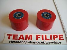 Suzuki DR 500 81-83 Chain Roller Set Rollers Upper + Lower Chainroller Red