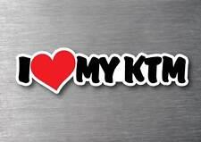 I Love My KTM sticker quality 7 year water & fade proof vinyl laptop moter bike