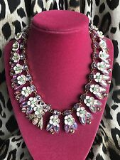 Betsey Johnson Buzz Off Bee And White Flower Crystal AB Collar Necklace $165