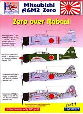 H-Models Decals 1/72 MITSUBISHI A6M2 ZERO OVER RABAUL Part 1