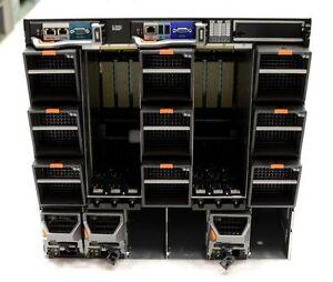 DELL M1000E Server Chassis w/ CMC iKVM 3x PSU 4x M610 Blade Dual QC E5620
