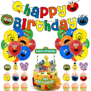 Sesame Street Party Supplies Banner Balloons Birthday Party Set Decoration