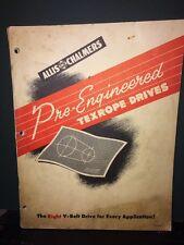 Allis Chalmers Pre-Engineered Texrope Drives V-belt  Catalog.