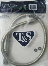 """NEW T&S BRASS B-0044-H FLEX SS HOSE 44"""" STAINLESS STEEL WITH GRAY HANDLE"""