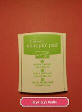Stampin Up GREEN GALORE linen dye ink pad for rubber stamping EUC (601)