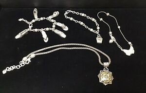 Brighton Jewelry Collection (1) Charm Necklace (2) Charm Bracelets (1) Anklet