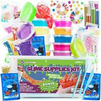 Slime Supplies Kit for Kids Clear Slime Making Kit with Crystal Slim Fun NEW