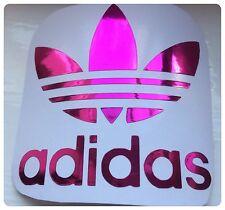 Adidas SCOOTER DECAL/STICKER PLUM  METALLIC  CHROME   Fits Vespa Legshield 80mm