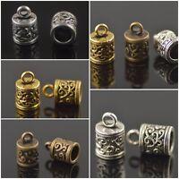 Wholesale 40Pcs End Caps Bead Stopper Fit 5.5mm Cord DIY Jewelry Bracelet Making