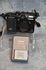 Canon PowerShot G10 14.7MP Digital Camera - Black. Battery and Charger