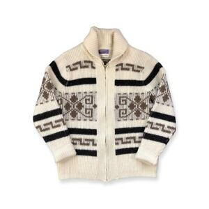 Vintage Pendleton The Original Westerley Dude Sweater Tan Brown Mens Size M
