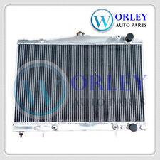 QLD 4 Row Alloy Radiator for Nissan Pintara Skyline R33 R34 AT with sensor hole