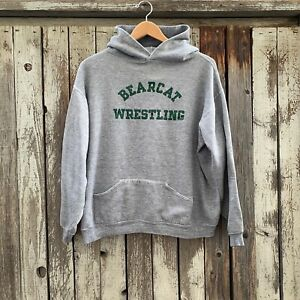 Vintage 70s Bearcat Wrestling By Russell Athletic Pullover Hoodie Gold tag XL