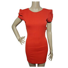 Saint Shylo Womens Dress Size 8 Orange Box Short Sleeve Textured Body Con Mini