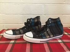 CONVERSE Chuck Taylor All Star Hi Woolrich Collab Black Blue Size 10 mens 12 Wo
