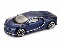 Bugatti Chiron in Metallic Blue (1:43 scale by Bburago 18-30348MB)