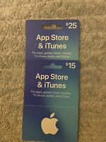 $40 Apple App Store & iTunes Gift Card - Physical USPS Delivery Free shipping.