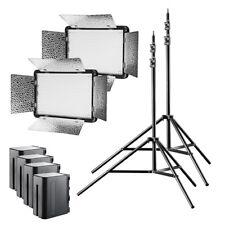 walimex pro LED Versalight 500 Bi Color Set2, Led Leuchten mit Stativen + Akkus