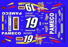#19 Mike Skinner Pameco Chevrolet 20001/64th Ho Scale Slot Car Waterslide Decals