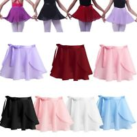 Girls Kids Gymnastics Ballet Dress Leotard Dance Wrap Tutu Skirt Skate Dancewear