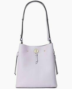 * TEST Marti Lilac Leather Large Bucket Shoulder Bag WKRU6827 NWT $399 FS