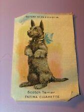Antique Fatima Cigarettes Tobacco Silk Scotoch Terrier